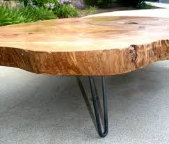 Rounded Edge Coffee Table - custom made tropical live edge round coffee table by the timber