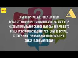 New Kitchen Sink Cost by How Much Does It Cost To Put In A New Sink Youtube