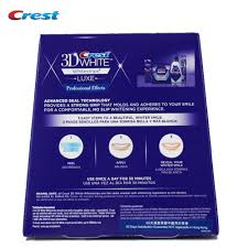 crest 3d white whitestrips with light teeth whitening kit crest 3d white whitestrips luxe professional effects original oral