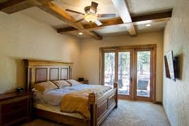 Craftsman Ceiling Fan by Bedroom Lot Plans Rustic Craftsman Bedroom Features Ceiling Fan