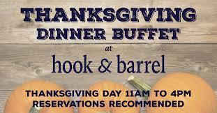 thanksgiving dinner buffet hook and barrel