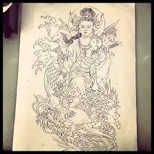 traditional japanese tattoo design by dazzbishop on deviantart
