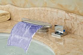 Changing Bathroom Faucet by Online Buy Wholesale Bathroom Faucet Led Vessel From China