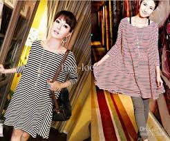 womens clothes tshirts sweatershirts plus size long stripe casual