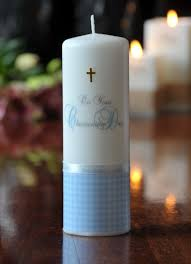 christening candles christening large boy personalised candles designed for you