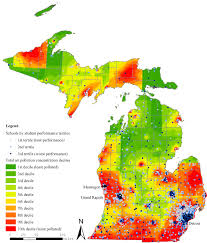 Road Map Of Michigan Air Pollution Near Michigan Schools Linked To Poorer Student