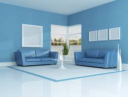 living room beautiful combinations nice white and blue color