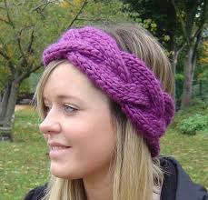 knitted headband pattern headband knitting pattern and easy beginner knit plaited