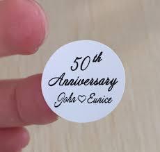 50th wedding anniversary party favors 90 pcs golden 50th silver 25th anniversary celebration custom