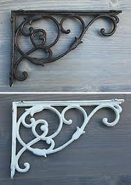 style cast iron ornate shelf bracket hook hanging flower