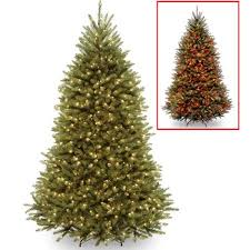 national tree pre lit 7 1 2 dunhill fir hinged artificial