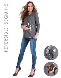 sequin maternity sweater seraphine