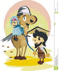 mary and joseph cartoon stock vector image 58690553