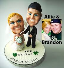 custom wedding cake toppers personalized bobblehead wedding cake toppers wedding