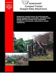 compact tractor grapple rake attachment worksaver