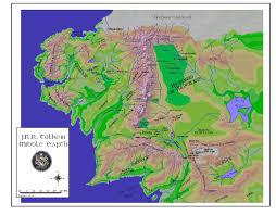 entire middle earth map entire middle earth map maps tolkien s universe bright entire