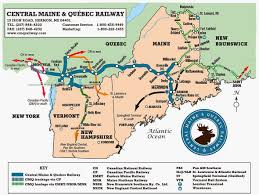 California Zephyr Route Map by Oil Electric Phoenix Rising Central Maine U0026 Quebec Railway
