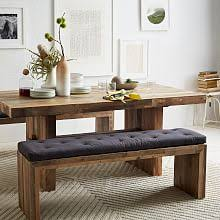 Dining Room Table Bench Dining Benches West Elm Mesmerizing Dining Room Tables With A