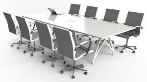 White Gloss Meeting Table Scale 1 1 Think Tank Conference Table 10ft Zuri Furniture