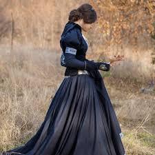 fantasy larp cosplay cotton dress and velvet bodice lost princess