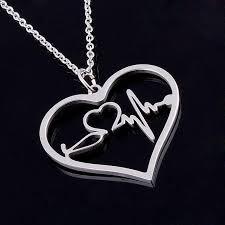 steel heart necklace images Nurse backwoods princess jpg
