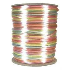 rattail cord 2mm satin rayon rattail cord pastel colors by the yard