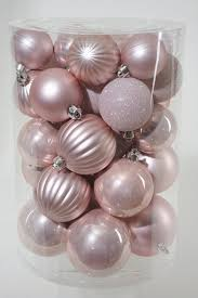 Baby Pink Christmas Decorations Shatterproof Ornaments Blush Pink Southern Blossoms Winter