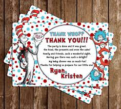 novel concept designs cat in the hat baby shower thank you