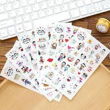 sticky photo album 20 sets stationary kawaii stickers happy pvc planner