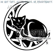 cat and knotwork moon design by wildspiritwolf deviantart