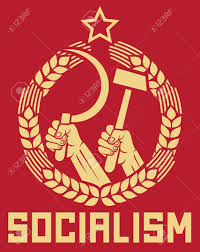Russian Flag With Hammer And Sickle Socialism Poster Soviet Poster Socialism Poster Ussr Propaganda
