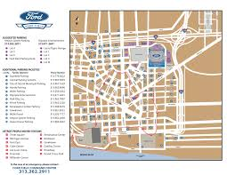 Mall Of America Parking Map by Ford Field Parking Guide Tips Rates Maps And More