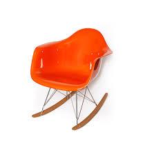 orange gloss eames style rar rocking chair ireland exclusive