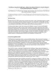 Geologist Job Description The Resolution Copper Deposit A Deep High Grade Porphyry Copper