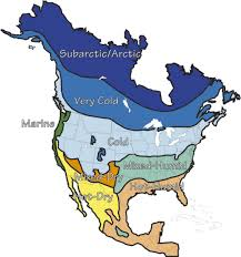 climate map of north america for kids climate map of north