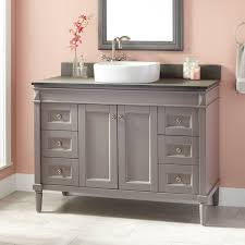 Size Of Bathroom Vanity Bathroom Grey Wooden Bathroom Cabinet 48 Inch Vanity Gray