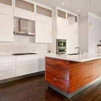 White Formica Kitchen Cabinets Small Kitchen Decoration Using Solid Cherry Wood Veneer Kitchen