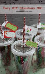easy diy christmas tumblers filled with a gift card u0026 candy