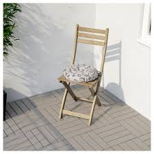 Patio Furniture Ikea - askholmen chair outdoor foldable grey brown stained ikea