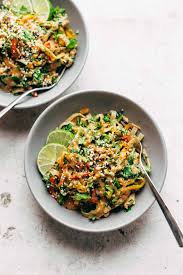 chopped thai noodle salad with peanut dressing recipe an