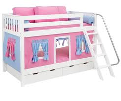 Maxtrix Low Bunk Bed With Curtains Bed Frames Maxtrix Furniture - Maxtrix bunk bed