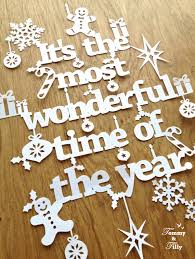christmas papercut template u0027it u0027s the most wonderful time of by