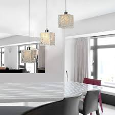 amazing acrylic glass pendant lamp for kitchen with white