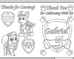 happy birthday paw patrol coloring page paw patrol personalized coloring pages pdf file