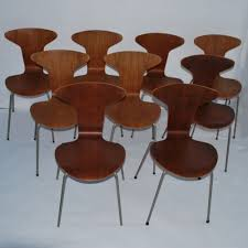 Jacobsen Chair Set Of 9 3105 Mosquito Dinner Chairs By Arne Jacobsen For Fritz