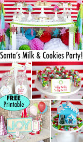cookie decorating christmas party free printables santa u0027s milk