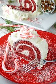 red velvet cake roll u0026 white chocolate peppermint butter cream icing