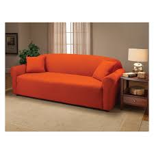 Tangerine Home Decor by Madison Industries Solid Jersey Sofa Cover Hayneedle