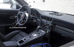 porsche 911 r interior facelifted 2016 porsche 911 u0027s interior spied undisguised