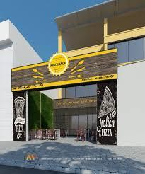 design pizza fast food restaurant in viet tri vietnam interior design